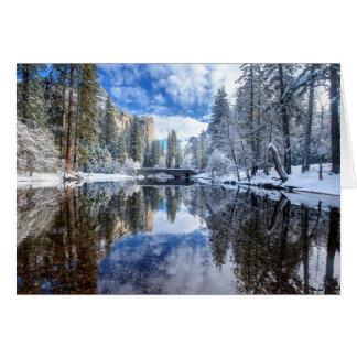 Réflexion d'hiver chez Yosemite Carte De Vœux