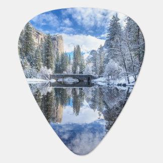 Réflexion d'hiver chez Yosemite Onglet De Guitare