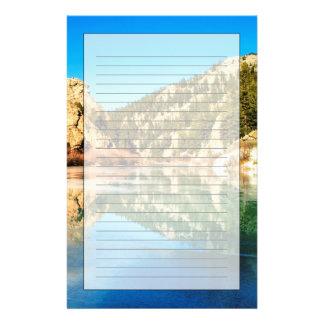 Réflexion en canyon d'Elevenmile Papier À Lettre