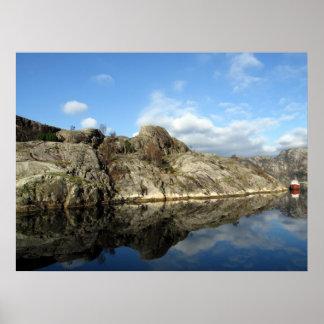 Réflexions 1 de fjord poster