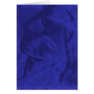 Réflexions bleues carte de vœux