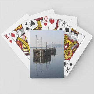 Réflexions de baie de Cardiff Cartes À Jouer