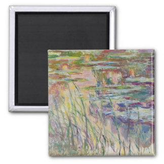 Réflexions de Claude Monet | sur l'eau, 1917 Magnet Carré