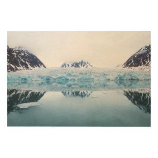 Réflexions de glacier, Norvège Impression Sur Bois