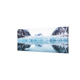 Réflexions de glacier, Norvège Toile