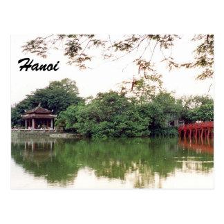 réflexions de lac de Hanoï Carte Postale