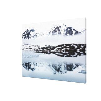 Réflexions de montagne, Norvège Toile