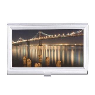 Réflexions de nuit de pont de baie d'Oakland Boîtier Pour Cartes De Visite