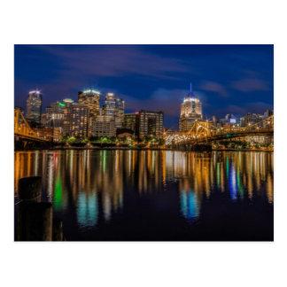 Réflexions de Pittsburgh Cartes Postales