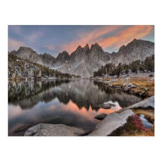 Réflexions de sommets de Kearsarge de soirée Carte Postale
