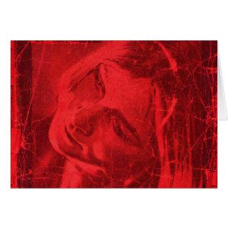 Réflexions rouges cartes de vœux