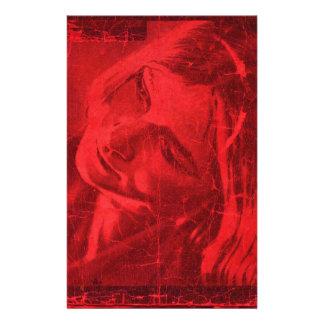 Réflexions rouges motifs pour papier à lettre