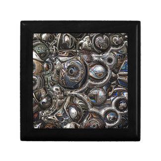 Réflexions tridimensionnelles petite boîte à bijoux carrée