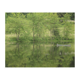Réflexions vertes de jardin impression sur bois