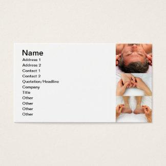 Réflexothérapie des oreilles, des mains, et des cartes de visite