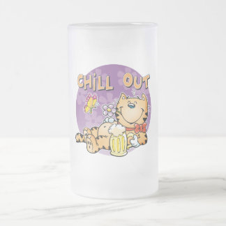 Refroidissez le chat frosted glass beer mug