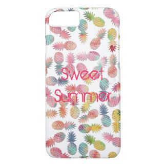 """Refroidissez le motif d'ananas d'aquarelle """"d'été coque iPhone 7"""