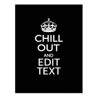 Refroidissez pour votre texte avec empêchent carte postale