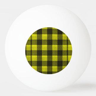 Regard Checkered de toile de jute de motif de Balle De Ping Pong