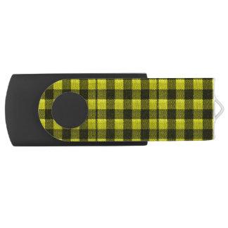 Regard Checkered de toile de jute de motif de Clé USB