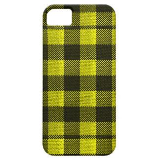 Regard Checkered de toile de jute de motif de Coque Barely There iPhone 5