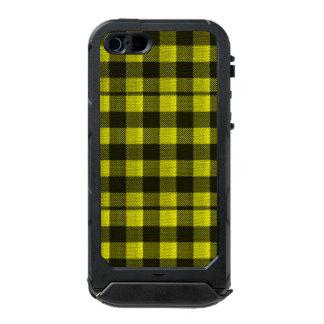 Regard Checkered de toile de jute de motif de Coque iPhone 5 Incipio ATLAS ID™