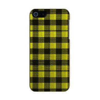 Regard Checkered de toile de jute de motif de Coque iPhone 5 Incipio Feather® Shine