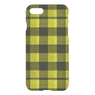 Regard Checkered de toile de jute de motif de Coque iPhone 8/7