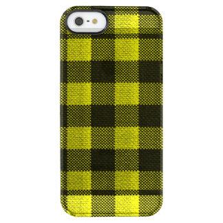 Regard Checkered de toile de jute de motif de Coque iPhone Clear SE/5/5s