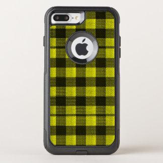 Regard Checkered de toile de jute de motif de Coque OtterBox Commuter iPhone 8 Plus/7 Plus