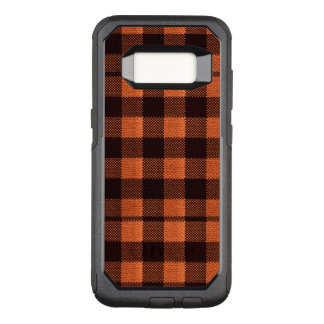 Regard Checkered de toile de jute de motif de Coque Samsung Galaxy S8 Par OtterBox Commuter