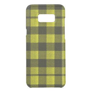 Regard Checkered de toile de jute de motif de Coquer Get Uncommon Samsung Galaxy S8 Plus