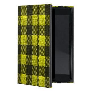 Regard Checkered de toile de jute de motif de Étui iPad Mini