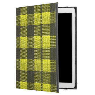"""Regard Checkered de toile de jute de motif de iPad Pro 12.9"""" Case"""