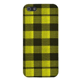 Regard Checkered de toile de jute de motif de iPhone 5 Case