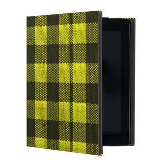 Regard Checkered de toile de jute de motif de Protection iPad