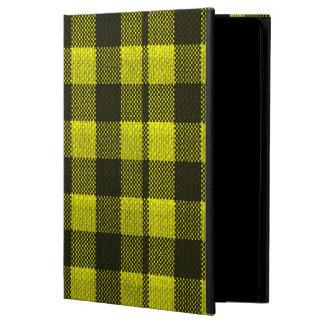 Regard Checkered de toile de jute de motif de Protection iPad Air