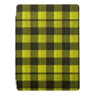 Regard Checkered de toile de jute de motif de Protection iPad Pro