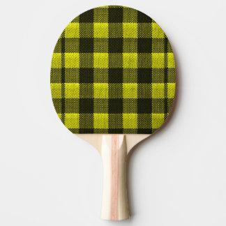 Regard Checkered de toile de jute de motif de Raquette De Ping Pong