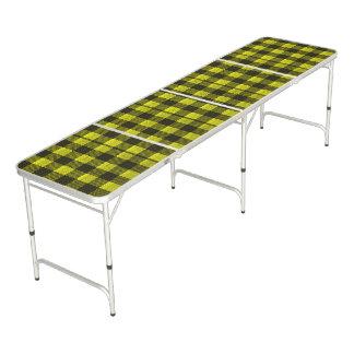 Regard Checkered de toile de jute de motif de Table Beerpong