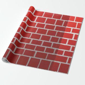 Regard de cheminée de brique rouge papier cadeau