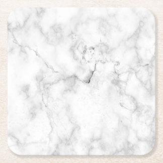 Regard de marbre de Faux Dessous-de-verre Carré En Papier