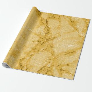 Regard de marbre jaune assez d'or de texture papier cadeau