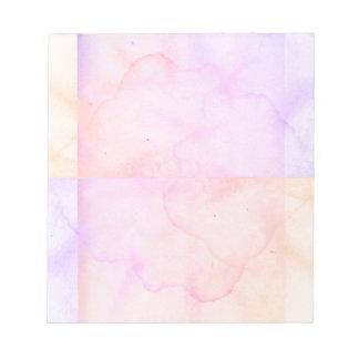 Regard de papier âgé de trace d'eau de rose en bloc-note