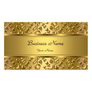 Regard de relief par damassé chique élégante d'or carte de visite standard