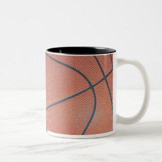 Regard de texture de Spirit_Basketball d'équipe Mug Bicolore