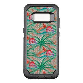 Regard de toile de jute de palmier de flamant coque samsung galaxy s8 par OtterBox commuter
