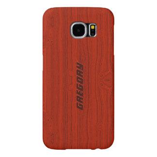 Regard du bois d'acajou rouge de motif de grain