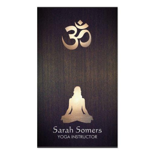 Regard du bois de yoga de méditation de pose de cartes de visite professionnelles