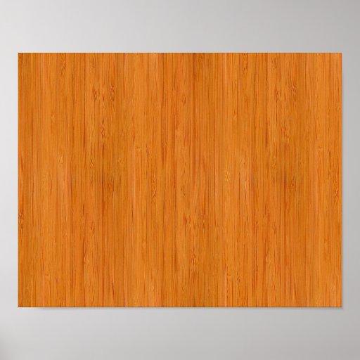 Regard du bois en bambou ambre posters